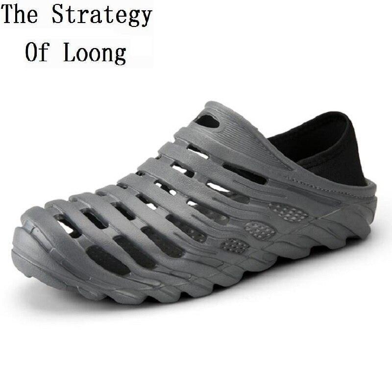 66f88ead3ca Nueva Hombres Tela Llegada Hombre azul Negro Estirado Zapatos Vuelta  Viscosa Tobillo Plus Gran Suela Sandalias Tamaño 1805 Verano Suave ...