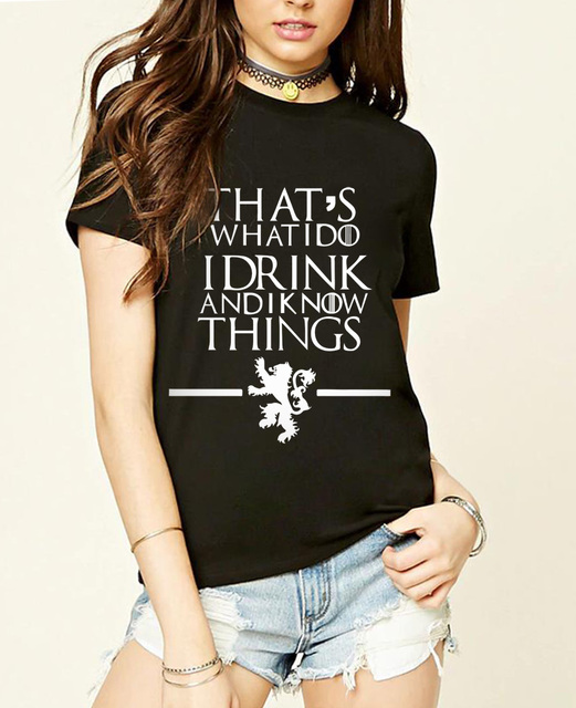 Game of Thrones Summer Casual Fashion Women's T-shirt
