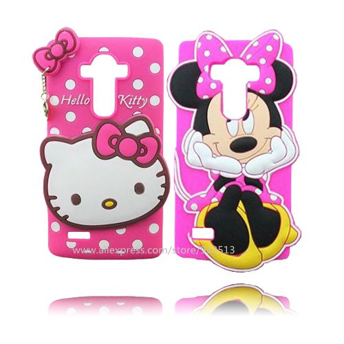 finest selection efeda 6fe19 US $2.99  For LG G4 Case 3D Hello Kitty Minnie Mouse Design Soft Rubber  Phone Cover Cases For LG G4-in Half-wrapped Case from Cellphones & ...