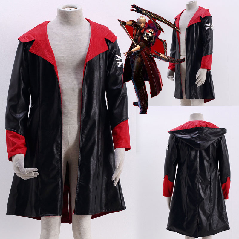 Us 83 0 Devil May Cry Dante Jacket Cosplay Costume Dmc 5 Pu Leather Trench Halloween Uniform For Woman Man Winter Christmas Coat In Anime Costumes