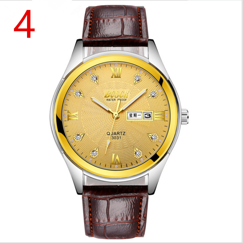 New men's business quartz watch in 2018, simple and fashionable.83 new fashionable men business silver belt gear quartz watch