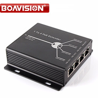 New Mini 10 100M 4 Ports POE Extender 25 5W Extend 120 Meters IEEE802 3af POE