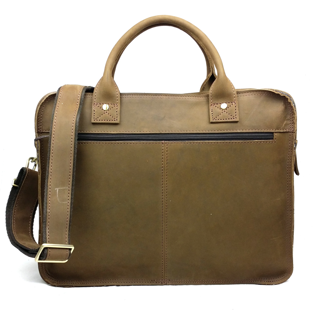 JOYIR men's briefcase crazy horse genuine leather men's business bag vintage messenger shoulder bag for male men briefcase 6370