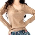 Blusas 2016 Mulheres Moda Inverno Camisola Das Mulheres Pullovers Colapso Caxemira Camisola Pulôver Blusas Soltas Atacado