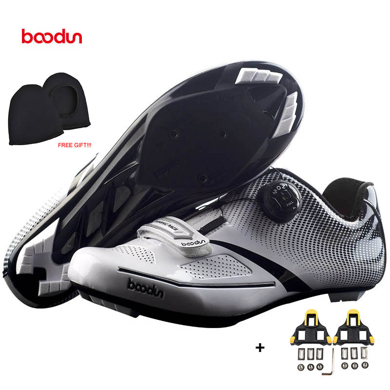 BOODUN New Ultralight Road Cycling Shoes Self-locking Non-slip Bike Shoes Men Athletic Road Riding Shoes Sapatos de ciclismo santic new design cycling shoes men outdoor road bike shoes self locking shoes non slip bicycle shoes sapatos with 3 colors