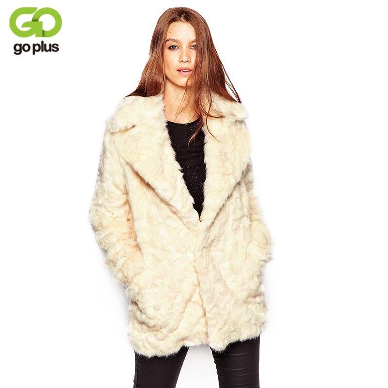 GOPLUS 2018 Fashion Winter Faux Fur Women Coats Fake fur spring jacket Thick Wool warm streetwear Casual furry female outerwear