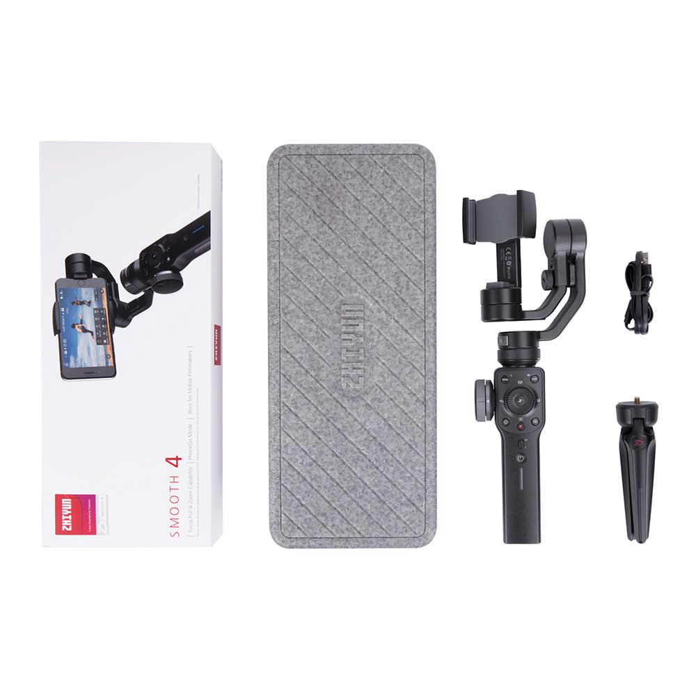 ZHIYUN Smooth 4 Мобильный шарнирный стабилизатор с 3 Осями для слежения за объектом для телефонов на базе Android с Bluetooth для iPhone Samsung и экшн-камера Ручной Стабилизатор