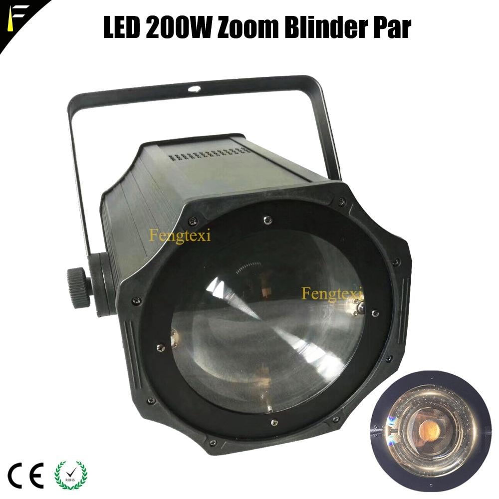 3000K/5600K COB 200w LED Spot Zoom Par Can Cold/Warm White Light 200W Theater Studio Stage Blinder LED Par Flood Light with DMX цены