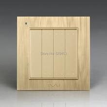 Free Shipping, Kempinski Luxury Wall Switch, 4 Gang 1 Way, Light Switch, AC 110~250V, X8 series