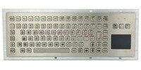 IP65 прочный киоск металла промышленная клавиатура с тачпадом Функция ключи Токопроводящая Резина клавиатуры