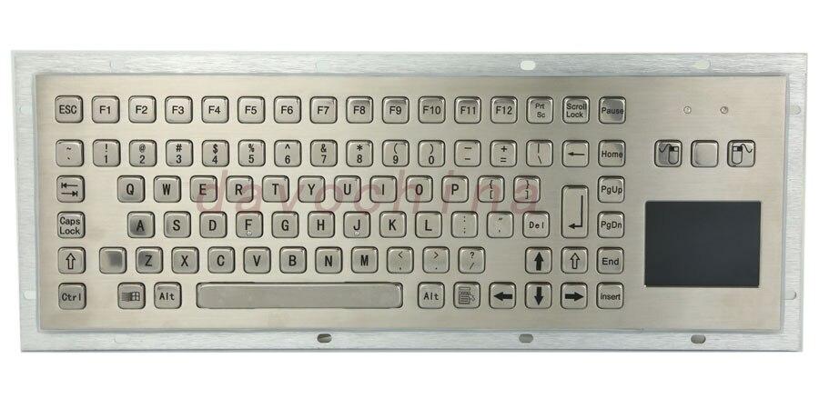 IP65 möhkəm toxunuşlu kiosk metal sənaye klaviaturası, touchpad funksiya düymələri keçirici rezin klaviatura