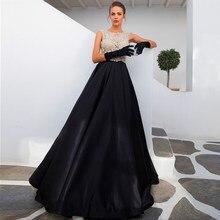 74960b97c Colección negro vestido de noche Abendkleider Crystal 2018 con cuentas  Rhinestone tela noche Madre de la novia vestidos