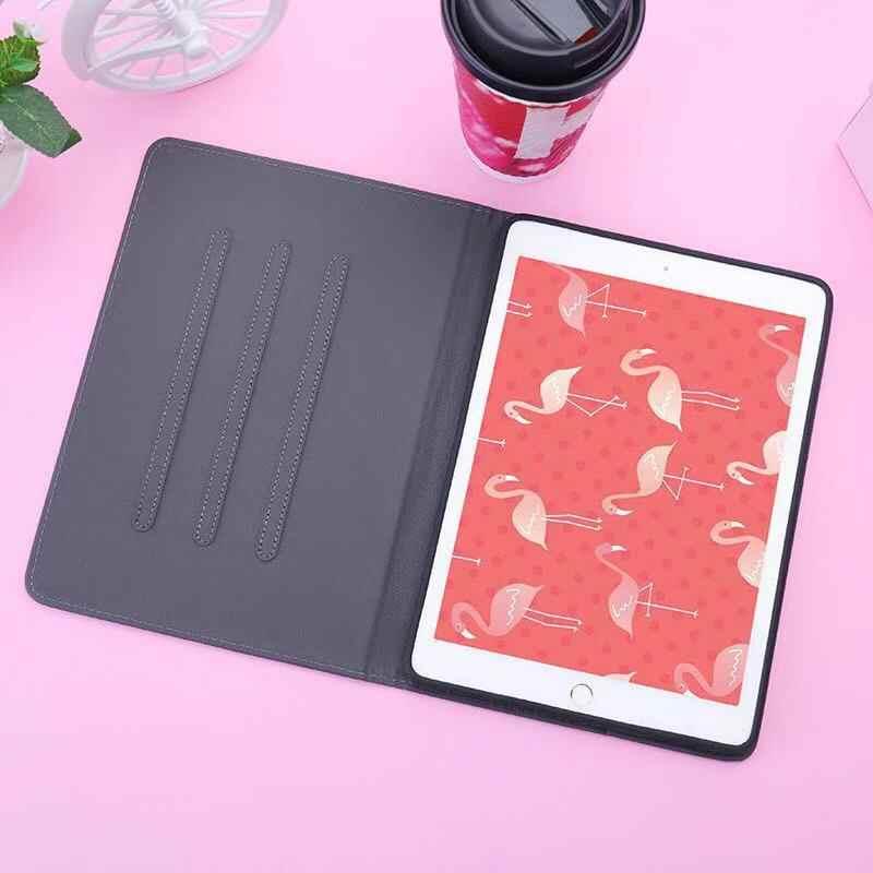 بو 3D المطرزة فلامنغو الذكية حافظة لجهاز iPad الهواء 2 1 2017 جديد باد غطاء ذكي حافظة لجهاز iPad 234 باد برو السيارات الاستيقاظ /النوم
