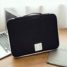 2019 New Multi-functional Waterproof Portable A4 Document Organizer Bag File Folder Case Travel Certificates Sorage Bags