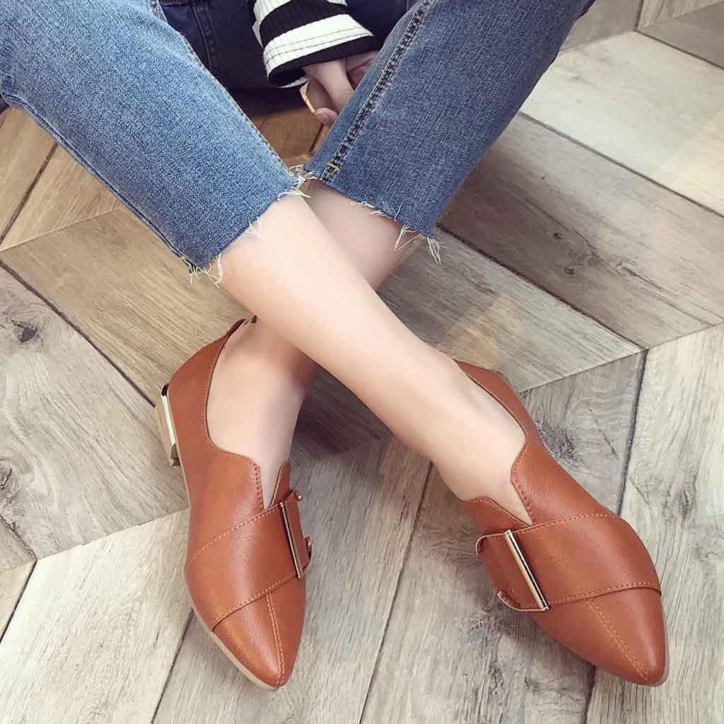 Summer Shoes Loafers Heel Platform Sandels Brown Beautiful Womens British Casual