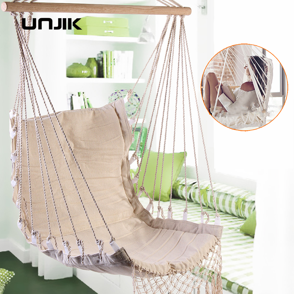 Attirant Nordic Style Deluxe Hammock Outdoor Indoor Garden Dormitory Bedroom Hanging  Chair For Child Adult Swinging Single Safety Hammock