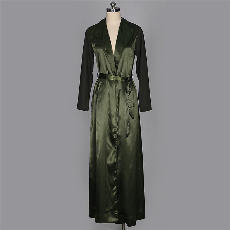 autumn chiffon sleeve long trench outwear-15