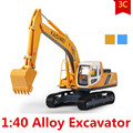 Alloy excavator model, 1:40 children's educational toys construction vehicles, children's favorite gifts, free shipping