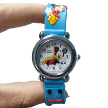 4D Cartoon Mickey Girl Boy Student Watch Children Silicone Quartz Wris