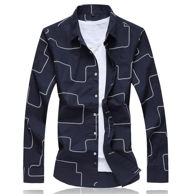 Latest Design Fashion Geometric Shirt Men 2017 Brand Clothing ...