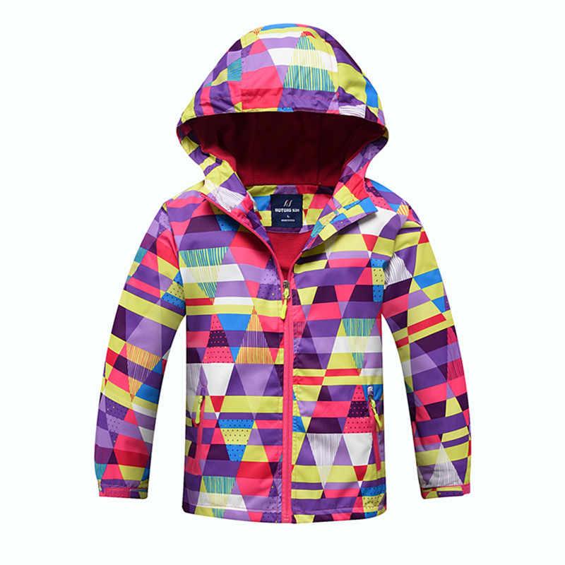 חדש 2019 סתיו חורף בנות פליס מעילי ילדי בנות מעילי ספורט מזדמן ילדי מעילי פעמיים סיפון עמיד למים מעילים
