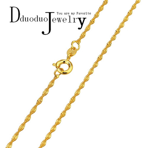 Water Wave Necklace Chain Women Solid Necklace Chain Valued Wedding