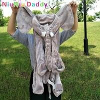 Niuniu Papá 60 cm Piel Gigante Elefante Elefante de Peluche de Juguete Muñecas de Piel de Animal Suave Almohada Bebé Almohada Para Dormir Regalo de cumpleaños