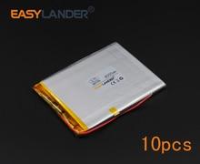 10pcs/Lot 3.7V 4000mAh Polymer Li-ion Battery For E-Book Power Bank PDA Portable DVD Consumer electronics safety lamp GPS 486789