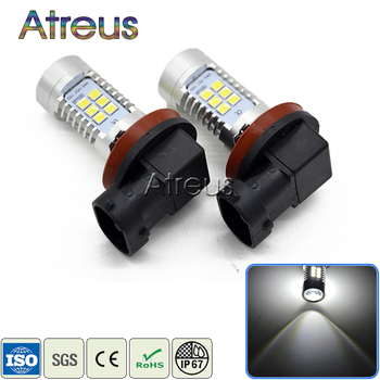 Atreus 2X Car LED H11 9006 1156 1157 H4 H7 21SMD LED DRL Fog Lights 12V with Lens For BMW E46 E39 E60 E90 E36 F30 F10 E34 E30 X5 image