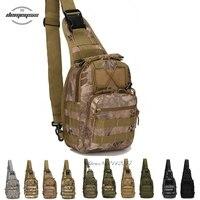 Militar Riding Gear Hombro Sling Bag Pecho Mosca Hombres y Mujeres Paquete para Ipad Paquete Pecho 1000D Cordura