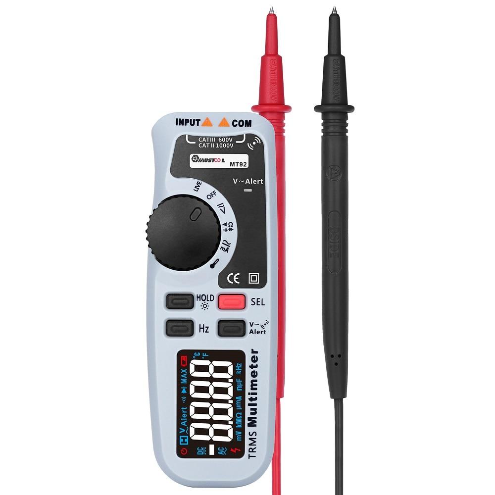 MUSTOOL MT92 6000 Counts True RMS Handheld Multimeter Black EBTN Screen AC/DC V/A Test цены