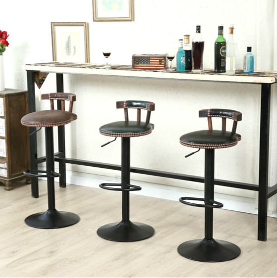 2pcs/lot High Quality Bar Chair Can Rotating Metal Lifting Europe Type Household Casual Cafe Bar Chair Desk Stool