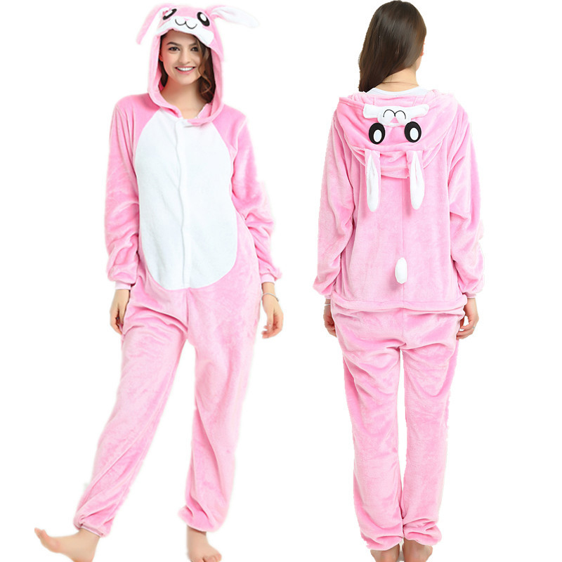 50c58bd5a0 Detail Feedback Questions about JINUO Winter Adult Kids Popular Pink Rabbit  Cartoon Animal Onesies Pajamas Unisex Adult Couple Kids Pajama Sets Costume  ...