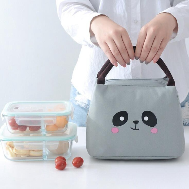 Kids Cute Cartoon Animal Pig Lunch Bags Women Outdoor Portable Oxford Cloth Ice Student Insulated Cooler Bag Child Picnic Tote
