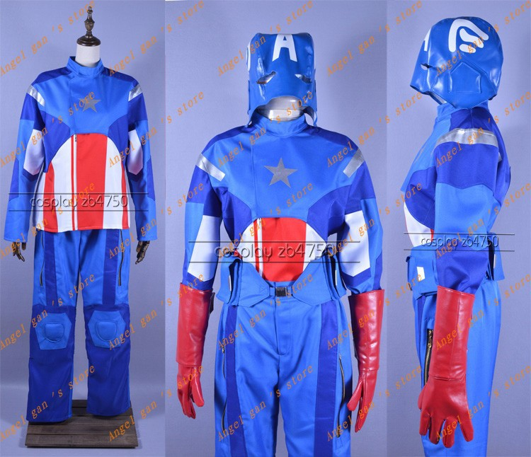 Free shipping Custom-made High quality The Avengers Captain America Theatrical Cosplay Costume