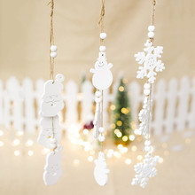 Snowflake Santa Claus Christmas Tree Hanging Wooden Ornaments Party Christmas Decorations for Home алпатов а пушкин а джапаридзе р государственно частное партнерство механизмы реализации