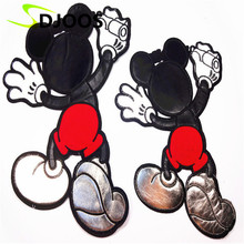 Mickey Letter Embroidery Patches for Clothing Biker Motorcycle Cartoon Iron-on Patches for Clothing Tops Jeans Jackets T-Shirt(China (Mainland))