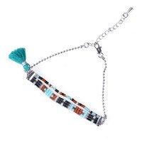 C. QUAN CHI Sieraden Unieke Ontwerp Crystal Zaad Kralen Vriendschap Armband Verstelbare Charm Zilveren Kralen Ketting Armbanden Voor Vrouwen