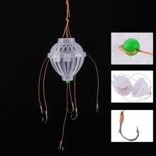 Fulljion Fishhooks Fishing Tackle Sea Box Spherical Explosion Hooks For Feeder Jig Winter Fly Fishing Lures Line 6 Steel Hooks