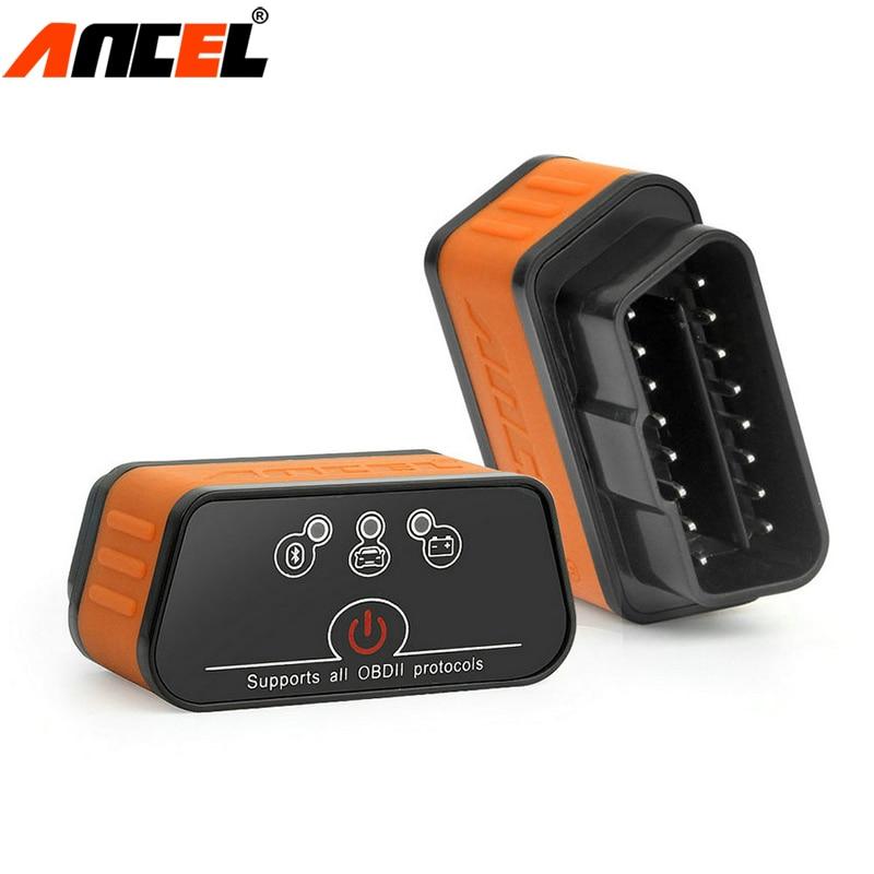 Ancel icar2 OBD2 ELM327 V1.5 Bluetooth Adapter Automotive Scanner Car Diagnostic Tool ELM 327 Auto Diagnostic Scanner in Russian