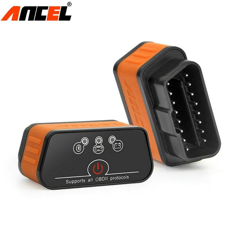 Ancel, icar2 OBD2 ELM327 V1.5 adaptador Bluetooth automóvil escáner herramienta de diagnóstico del coche ELM 327 código de Error lector ODB2 ELM327