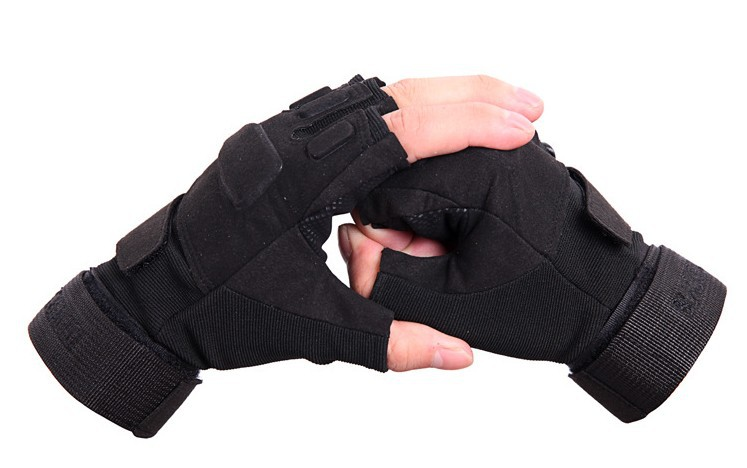 TACVASEN Men Army Gloves Military Tactical Gloves Half Finger Combat Gloves Slip Resistant Hunt Gloves Workout Gear TD-YWHX-002