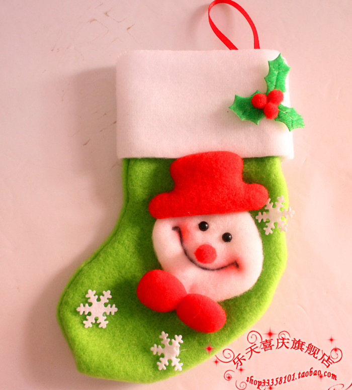 Santa Claus&Snowman&Deer Christmas stockings,christmas tree decorations,ornaments for christmas tree,christmas gift 100pcs/lot