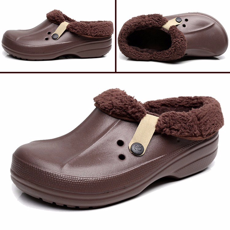 Women's Winter Clogs Men's Garden Shoes EVA Waterproof Outdoor Slippers Clogs For Men Women Clog Man Candy Color Warm 36-44 (6)