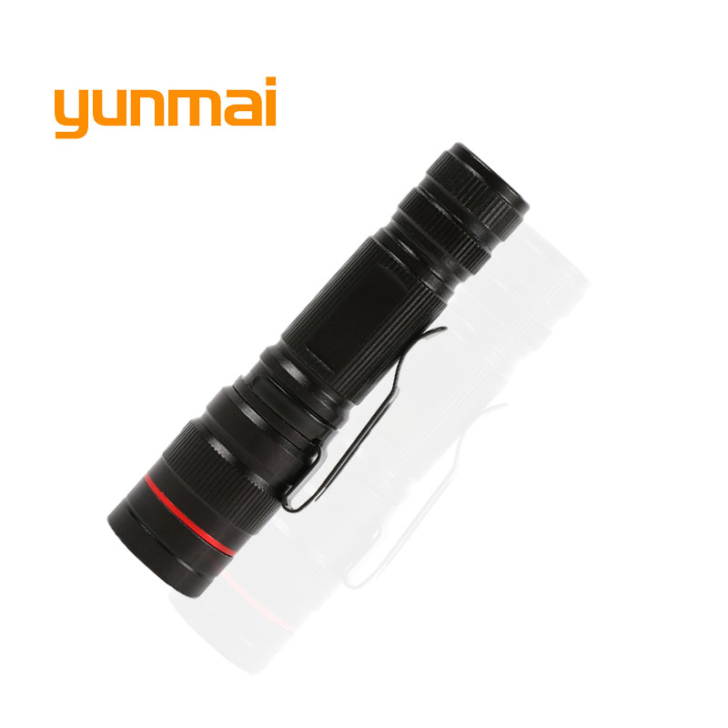 yunmai Powerful Zoom LED Flashlight Zoomable Small Penlight Cree Q5 Adjustable 3-Mode Mini Torch Strobe Flash Light Use AA/14500 ...