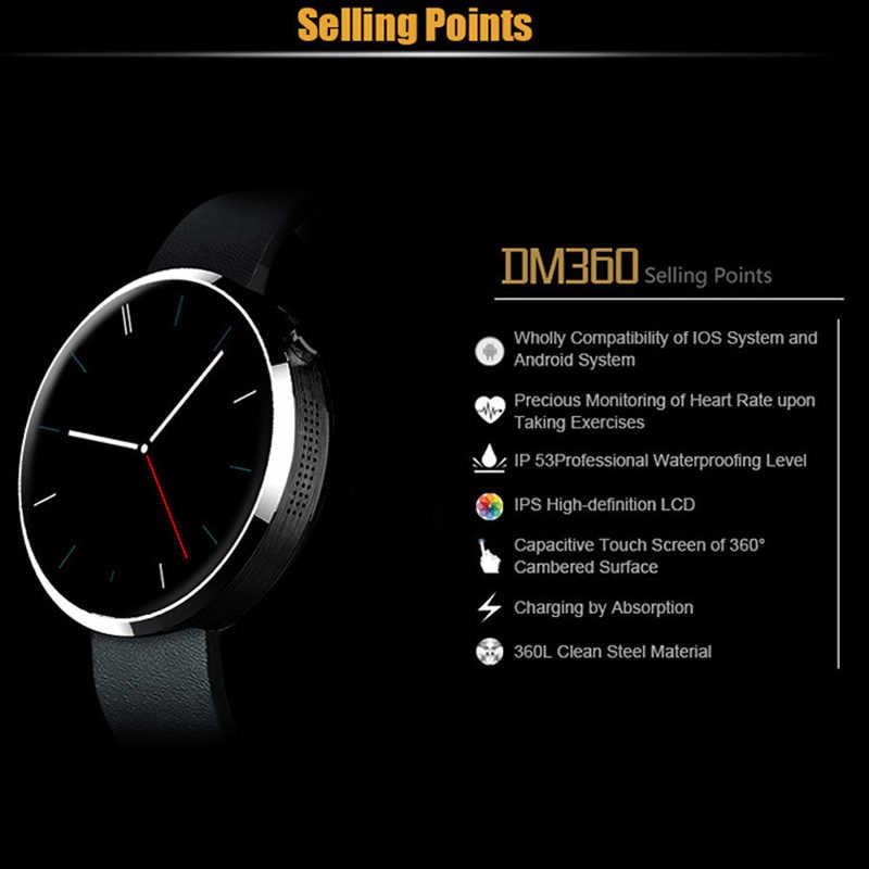 DM360 Смарт-часы браслет HD перчатки для сенсорного экрана часы деятельность фитнес циферблат Носимых устройств анти-потерянный будильник для Andriod IOS
