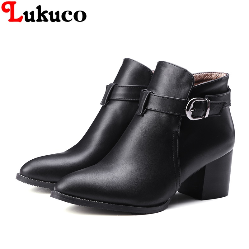 2018 MATURE style lady ankle boots super big size 39 40 41 42 43 44 45 46 47 48 women buckle shoes retro design free shipping