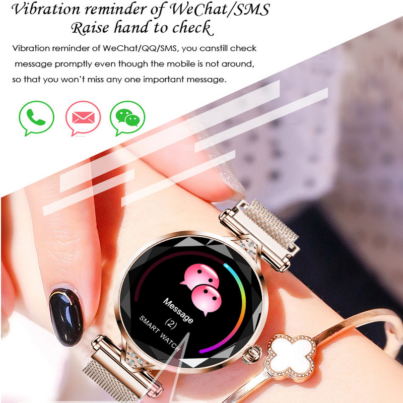 H1 smart watch women heart rate blood pressure fitness pedometer female physiological cycle waterproof smartwatch reloj Bracelet-in Smart Watches from Consumer Electronics    3