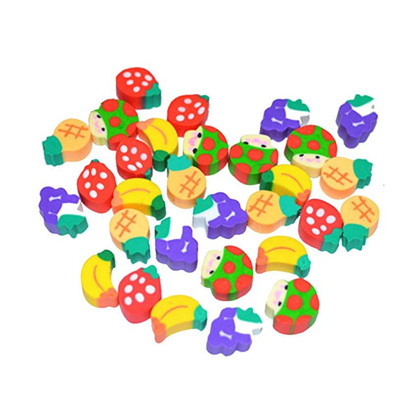10 шт. милые фрукты кухни форма Резиновая Ластик для студентов обучения канцелярские принадлежности для ребенка творческий подарок