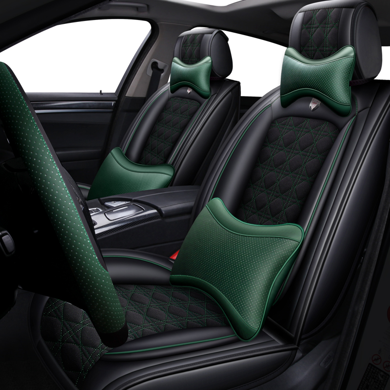 Leather Amp Flax Universal Car Seat Cover For Hyundai Solaris